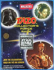 TRADING CARDS Walker's TAZOS BRITISH set in binder '97 vtg Star Wars HAN SOLO