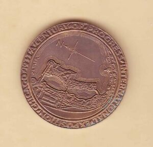 USA 1933 Century of Progress Exposition(Chicago) Official Medal 57mm UNC