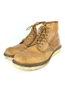 RED WING Heri 6 Roud Toe   Oro Igial Plain Toe  US 8.5 Brown From Japan boots