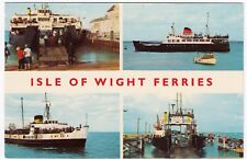 Isle Of Wight Ferries Multiview PPC, Unposted, By Cotman Color