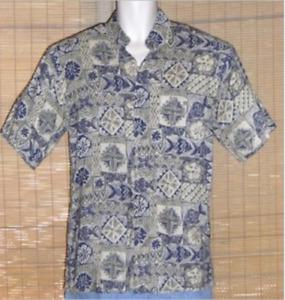 Campia Moda Hawaiian Shirt Blue Green Small