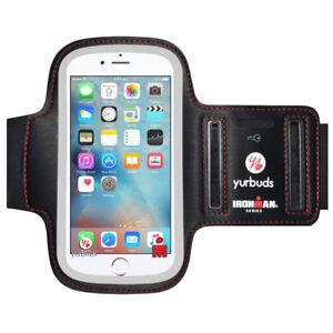 Cellphone Armband Soft Neoprene Yurbuds IronMan Screen Guard Key Pocket Med-Lrg