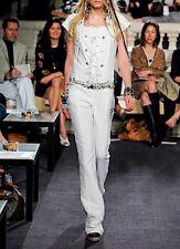 CHANEL 07C Ivory Cotton Jumpsuit Sz 36 $2,920