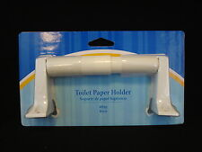 Liberty Toilet Paper Holder White # 129342 With Plastic Roller & Metal Bases
