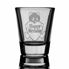 2oz Happy Birthday Panda Bear Shot Glass