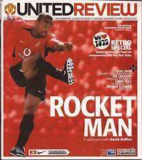 Football Programme - Man Utd v Southampton - Premiership - Jan 2004