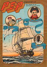 PEP 1974  nr. 01  -  VICTOR HUBINON / ROODBAARD (COVER) / VARIOUS COMICS