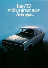 Hillman Avenger Standard Saloon 1971-72 UK Market Sales Brochure 1250 1500