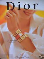 PUBLICITÉ DE PRESSE 1996 MONTRE CHRISTIAN DIOR LA PARISIENNE - ADVERTISING