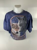 The Mountain VTG Graphic Shirt- Wolves In Dream Catcher from 2011 Size 2XL