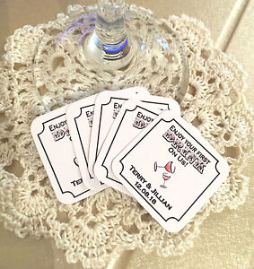 Personalised Free Drink Tokens For Weddings/Parties - 6 Designs To Choose From!