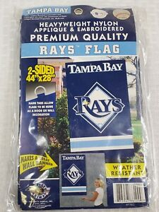 """Tampa Bay Rays MLB Licensed  Banner/House Flag Applique 44""""x 28"""" Heavy Duty Sewn"""