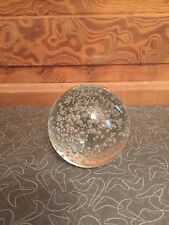 Clear Glass Sphere Controlled Bubble Paperweight
