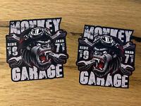 2x Biker Monkey Aufkleber Garage Sticker Tankaufkleber Oldschool Custom V2 MG368