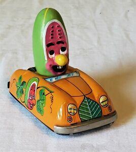 Early Marx Toys Japan Friction MARXIE MELON MAN CAR (D. DEAN - 1968) V RARE MINT