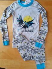 NWT Hanna Andersson Organic D C COMICS BATMAN Long John Pajamas 120 6 7