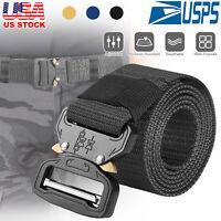 Men's Military Tactical Belt Adjustable Metal Buckle Gun Belt Quick Release New