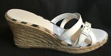 Burberry Wedge Sandals 👡 Shoes Platforms White Size:41(10-10.5) Italy 🇮🇹 NWOB