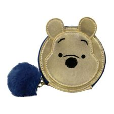 Genuine Disney Winnie The Pooh Zipped PU Coin Purse Pouch Hundred Acre Wood Bear