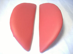 """Chair Armrest Padded Red Vinyl For Indoor Outdoor Furniture 10"""" long 4"""" Wide"""