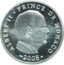 U557 Monaco 5 euro Argent Silver 2008 Prince Albert II Monaco PP Proof