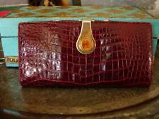 a767b5d9e85e RARE Vintage GUCCI Crocodile Alligator Long Wallet Checkbook Cover  Accessory GG