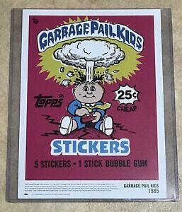 Garbage Pail Kids Topps 80th Adam Bomb Print Wrapper Series 2018 OS1 Pack 14x10