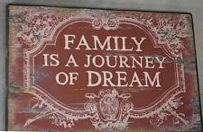 Loft Wandschild Wandbild Holz Schild Sprichwort Familie Shabby Chic Vintage