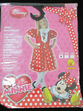 Disney Paillettes Red Minnie Déguisement taille S 3-4 Ans