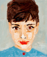 Audrey Hepburn Original Oil Painting on Canvas Modern French Art Neal Turner NR