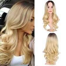 Wigs Wine Blonde Long Wavy Wig Hair 100 kanekalon Synthetic Heat Resistant