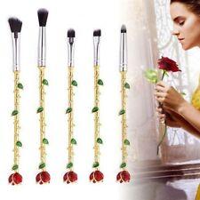 Beauty y la bestia Estilo Rosas Plata/Oro Conjunto de Pinceles para Maquillaje