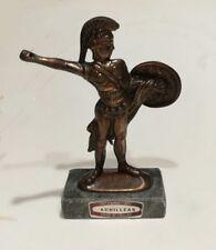 """Statuette en bronze """"Achille"""" sur socle marbre - Art hellénique - Faite en Grèce"""