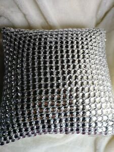 """Sivaana Mirror Work Throw Pillow """"Taste for the exquisite"""" New without tags"""