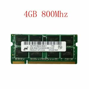 4GB 2GB DDR2 800MHz PC2-6400S 200PIN Notebook Laptop RAM SODIMM For Micron Lot
