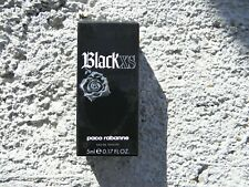 "PACO RABANNE BLACK XS 5 ML (X 2) EDT ""2"" IN THIS OFFER+ FREE TOTE BAG"