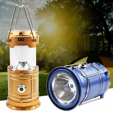 1X Solar USB Charging Rechargeable Outdoor Camping Tent Lantern Light 6 LED Lamp