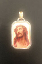 Vintage .925 Silver Jesus Piece Necklace Pendant