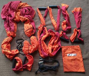 Yoga Body Trapeze Orange Red Original Carrying Bag Hammock Inversion Swing