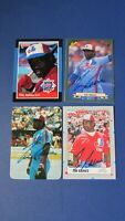 TIM RAINES   MONTREAL EXPOS  1984/1989  (11 DIFF)   4 cards SIGNED AUTO  Glossy