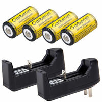 4x GARBERIEL 3.7V 1800mAh Li-ion Rechargeable CR123A 16340 Battery+18650 Charger