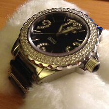 Naturally jojo watches Unisex  ceramic watch rhinestone sapphire glass