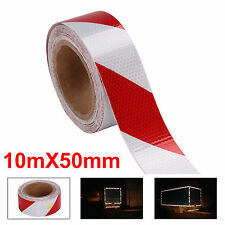 Reflektorfolie Reflektorband Warnung Selbstklebend Warnaufkleber 50mm x 10M Rot