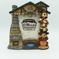 Disney's Wilderness Lodge Totem Pole 5 X 7 picture frame Mickey Mouse Brown
