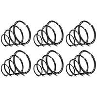 24PCS 20G Stainless Steel Nose Ring Hoop Cartilage Hoop Septum Piercing Jewelry