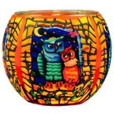 Owls Design Plaristo Tealight Glowing Candle Votive Holder Ornament Gift