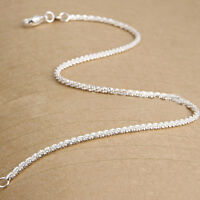 New Women Girls 925 Sterling Silver Plated Shining Chain Anklets Bracelet