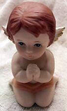 "Vintage Homco Angel #1430 Cherubs Porcelain Figurine 3.25"" Tall (#24)"