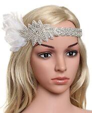 Women's Roaring 1920s Headband Bling Crystal Gatsby Headpiece Flapper