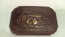 Vintage 1970's Cord 812 Supercharged Automobile Brass Belt Buckle